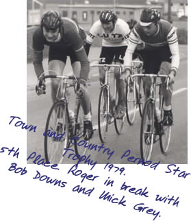 Toen and Country Pernod Star Trophy 1979. 5th place. Roger in break with Bob Downs and Mick Grey.